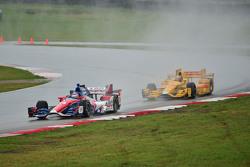 Takuma Sato, A.J. Foyt Enterprises, Honda, und Ryan Hunter-Reay, Andretti Autosport, Honda