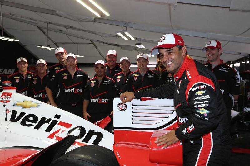 Polesitter Juan Pablo Montoya, Team Penske Chevrolet