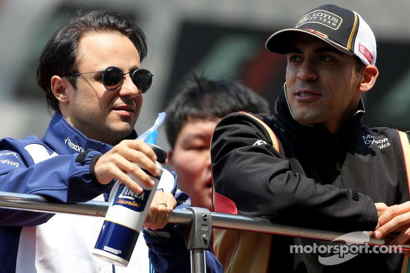 Felipe Massa, Williams F1 Team and Pastor Maldonado, Lotus F1 Team