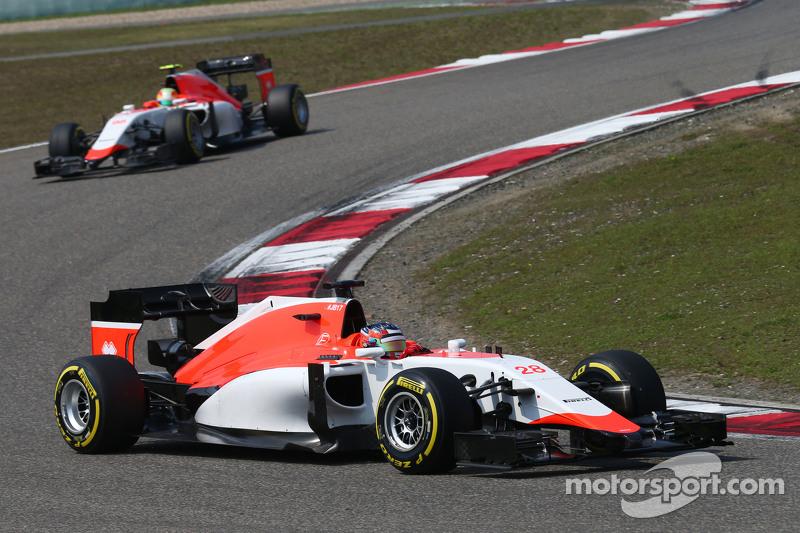 Will Stevens, Manor F1 Team, vor Roberto Merhi, Manor F1 Team
