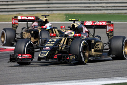 Pastor Maldonado, Lotus F1 Team y Romain Grosjean, Lotus F1 Team
