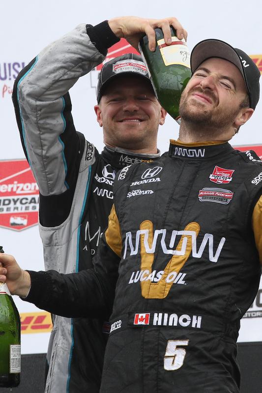 James Hinchcliffe, Schmidt Peterson Motorsports, Honda, und James Jakes, Schmidt Peterson Motorsport