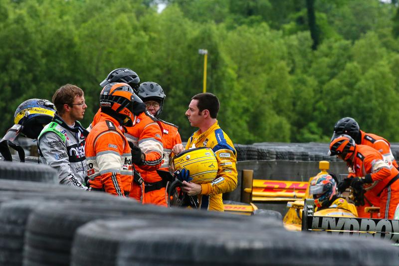 Simon Pagenaud, Team Penske, Chevrolet, und Sebastien Bourdais, KVSH Racing