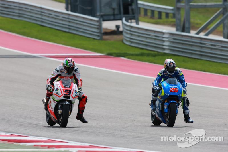 Maverick Viñales, Team Suzuki MotoGP, dan Danilo Petrucci, Pramac Racing