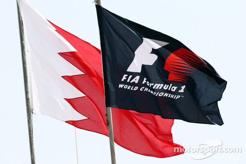 F1 and Bahrain flags