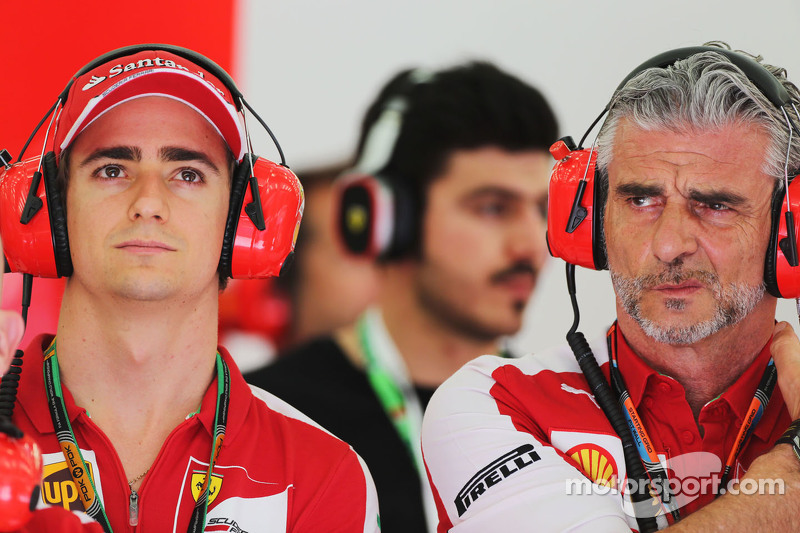 Esteban Gutierrez, Ferrari Test and Reserve Driver with Maurizio Arrivabene, Ferrari Team Principal