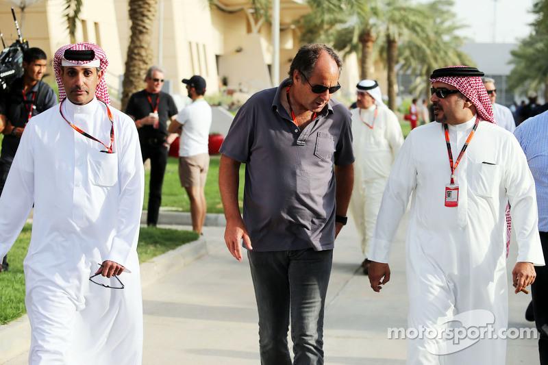 Gerhard Berger, with Crown Prince Shaikh Salman bin Isa Hamad Al Khalifa