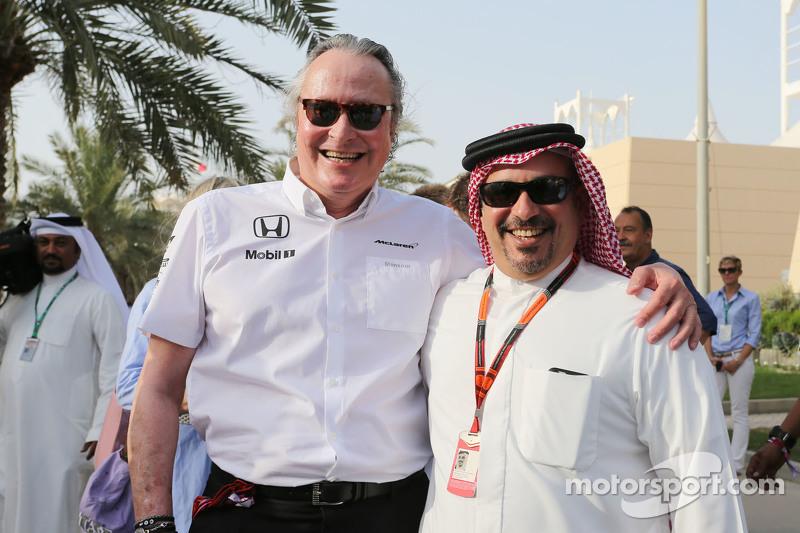 Мансур Ожьє, акціонер McLaren з Кронпринцем Шейх Салман бін Іса Хамад аль-Халіфа