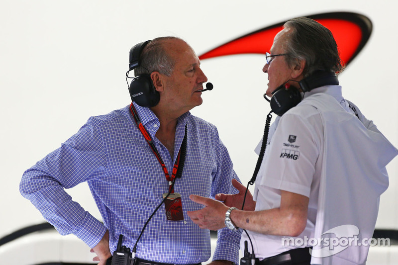 Ron Dennis, McLaren Executive Chairman with Mansour Ojjeh, McLaren shareholder