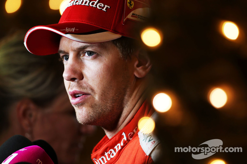 Sebastian Vettel, Ferrari bersama the media