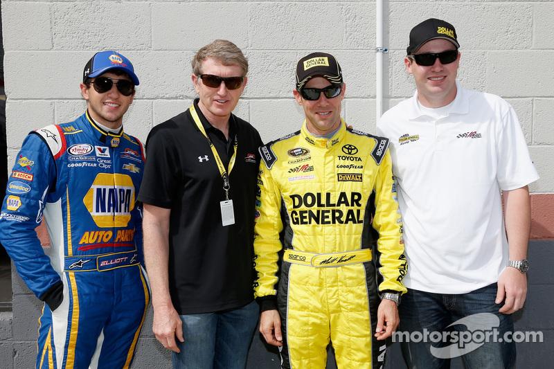 Chase Elliott, Bill Elliott, Matt Kenseth, Ross Kenseth