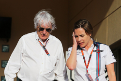 Bernie Ecclestone mit Claire Williams, stellvertretende Williams-Teamchefin