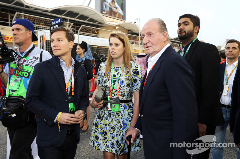 Princess Beatrice with Former Spanish King Juan Carlos on the grid