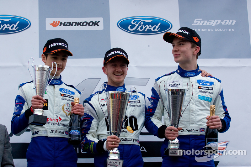 Podium : James Pull, Ricky Collard et Daniel Ticktum