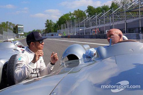 Mercedes çekim günü, Monza