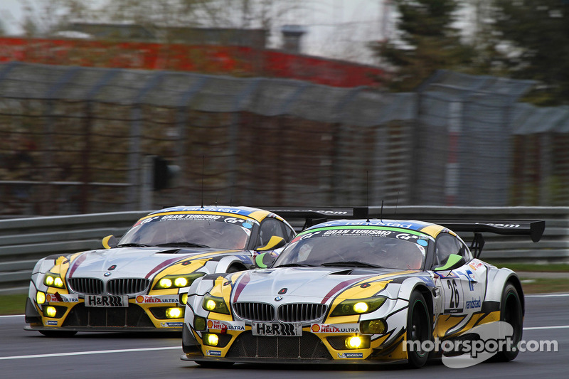 #25 BMW Sports Trophy Team Marc VDS, BMW Z4 GT3: Lucas Luhr, Markus Palttala, Richard Westbrook und #25 BMW Sports Trophy Team Marc VDS, BMW Z4 GT3: Lucas Luhr, Markus Palttala, Richard Westbrook