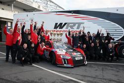 2. Pierre Kaffer und Laurens Vanthoor; 1. Christopher Mies und Nico Müller, Audi Sport Team WRT, Audi R8 LMS