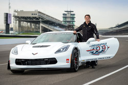 Jeff Gordon is unveiled as the driver of the 2015 Indianapolis 500 Chevrolet pace car