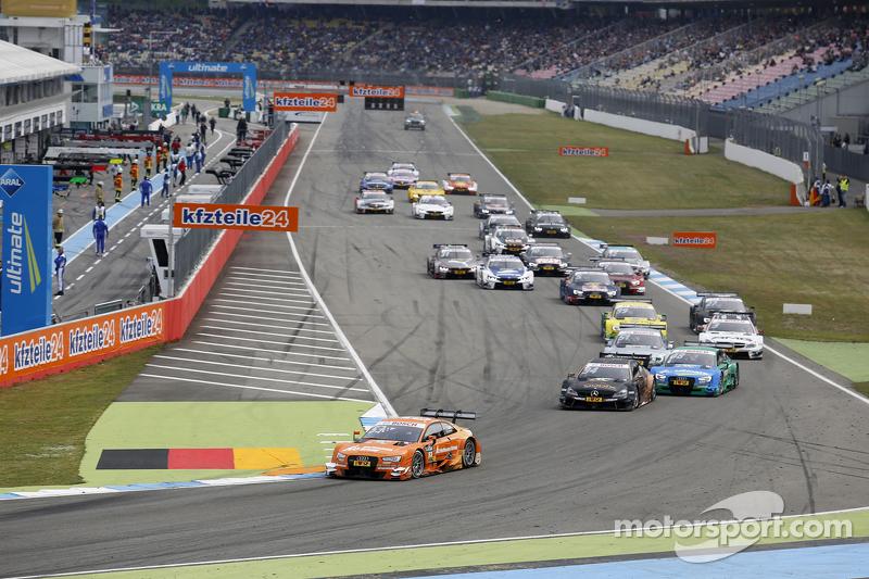 Start: Jamie Green, Audi Sport Team Rosberg, Audi RS 5 DTM, in Führung