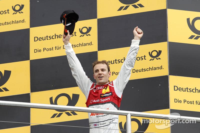 Podium, Jamie Green, Audi Sport Team Rosberg Audi RS 5 DTM