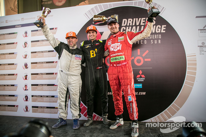 Podium: Ricardo Dasso, winner Nelson Piquet Jr. and Nicolas Fuchs