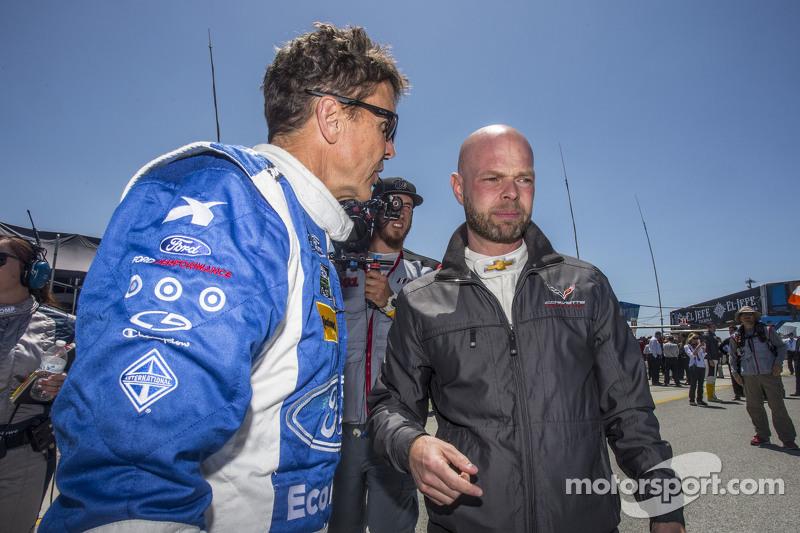 #01 Chip Ganassi, Ford/Riley: Scott Pruett und #3 Corvette Racing, Chevrolet Corvette C7.R: Jan Magn