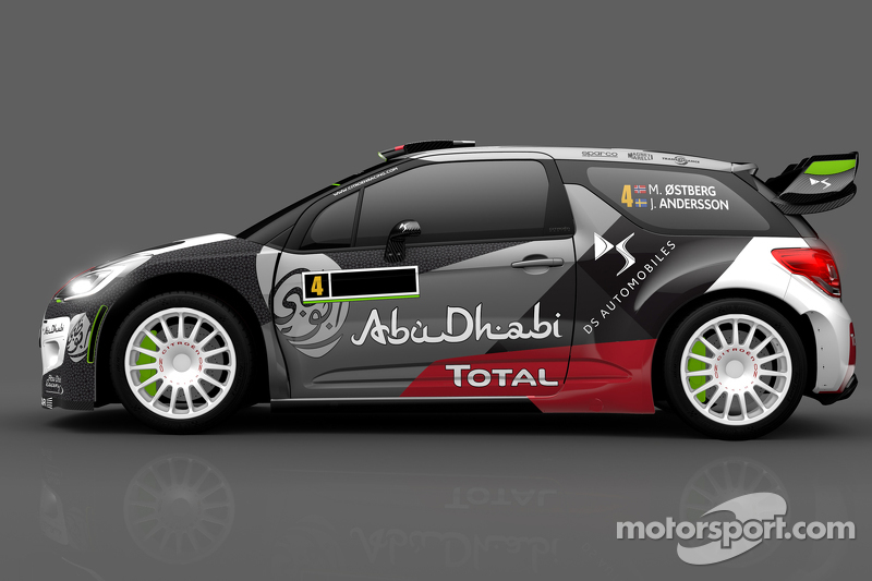 Ліврея для Медс Остберг та Йонас Ендерсон, Citroën DS3 WRC, Citroën World Rally Team