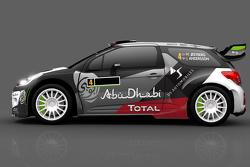 Farbdesign für Mads Ostberg und Jonas Andersson, Citroën DS3 WRC, Citroën World Rally Team
