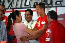 Michael Schumacher and Michelle Yeoh