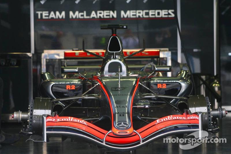 La McLaren Mercedes MP4-21