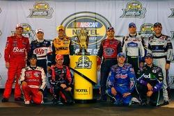 The Chase for the NASCAR Nextel Cup drivers for 2006: Dale Earnhardt Jr., Mark Martin, Matt Kenseth, Jeff Gordon, Jimmie Johnson, Kevin Harvick, Kasey Kahne, Jeff Burton, Kyle Busch and Denny Hamlin