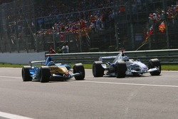 Nick Heidfeld and Fernando Alonso