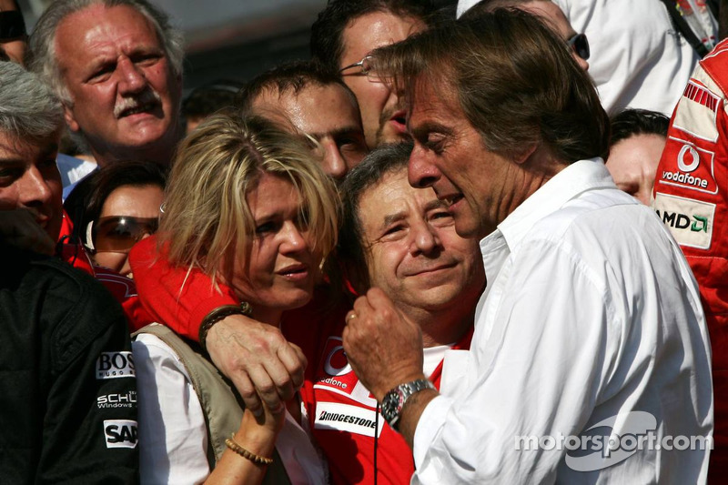 Emotional moments for Corina Schumacher, Jean Todt and Luca di Montezemolo