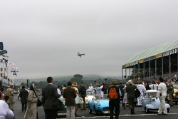 A spitfire passes over the Goodwood grid