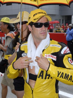 Carlos Checa on the starting grid