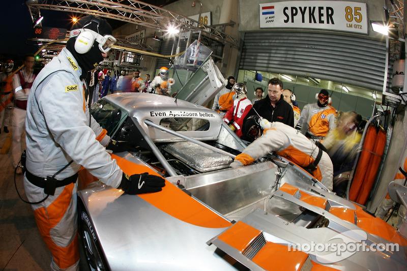 L'équipe Spyker Squadron au travail