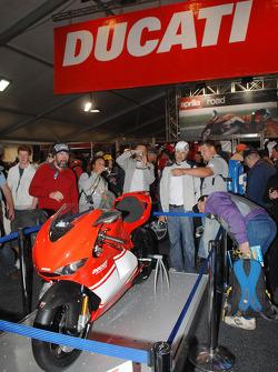A Ducati on display