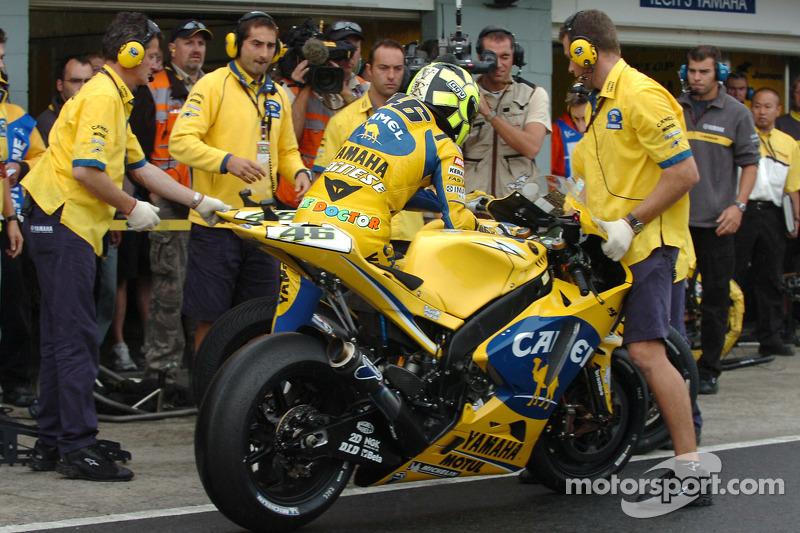 Cambio moto de Valentino Rossi