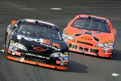 Denny Hamlin and Jeff Burton