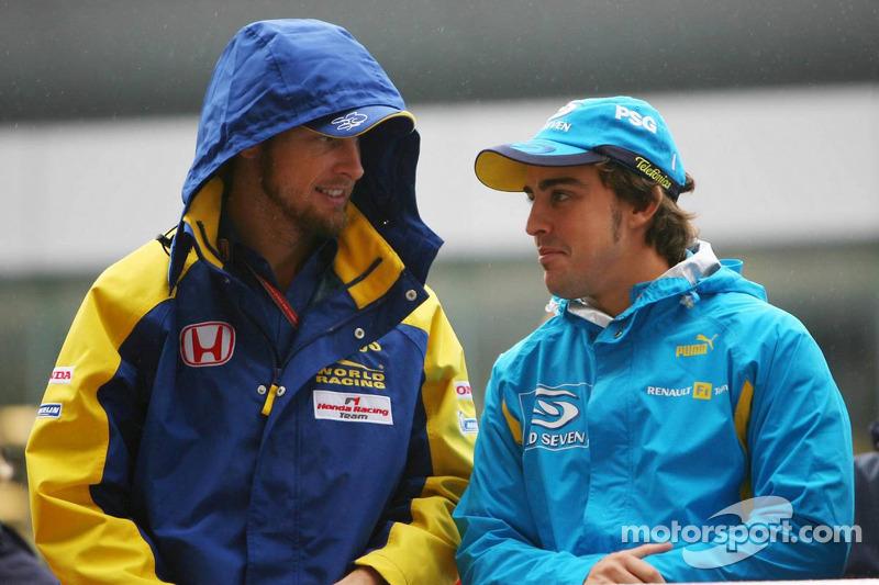 Jenson Button y Fernando Alonso