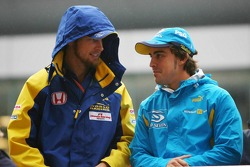 Jenson Button y Fernando Alonso