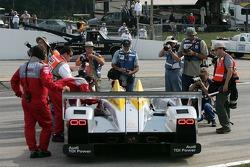 #2 Audi Sport North America Audi R10 TDI Power arrives on the starting grid