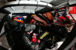 Juan Pablo Montoya sits in the Texaco-Havoline Dodge