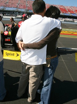 Juan Pablo Montoya and wife Connie share a moment
