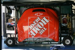 Front hood bodywork of the Home Depot Chevy
