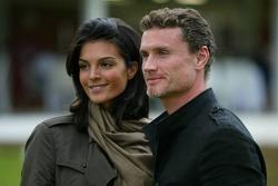 Golf tournament: David Coulthard and his girlfriend Karen Minier
