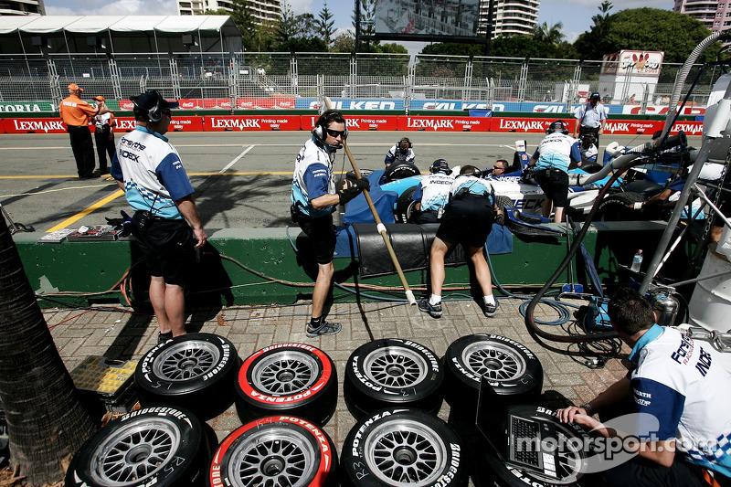 Le team Forsythe Championship Racing s'entraîne aux pit-stops