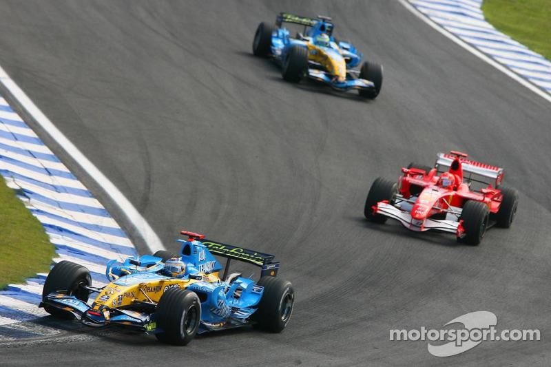 Fernando Alonso und Michael Schumacher