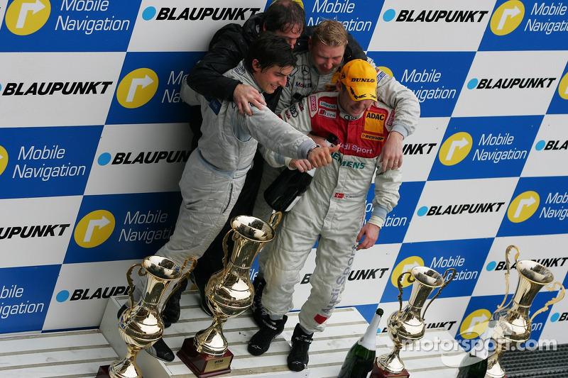 Podium : Mika Hakkinen, Bruno Spengler et Tom Kristensen