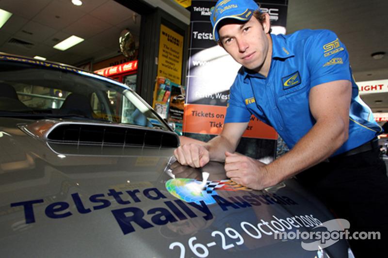 Chris Atkinson lors du lancement des ventes pour le Rally Australia